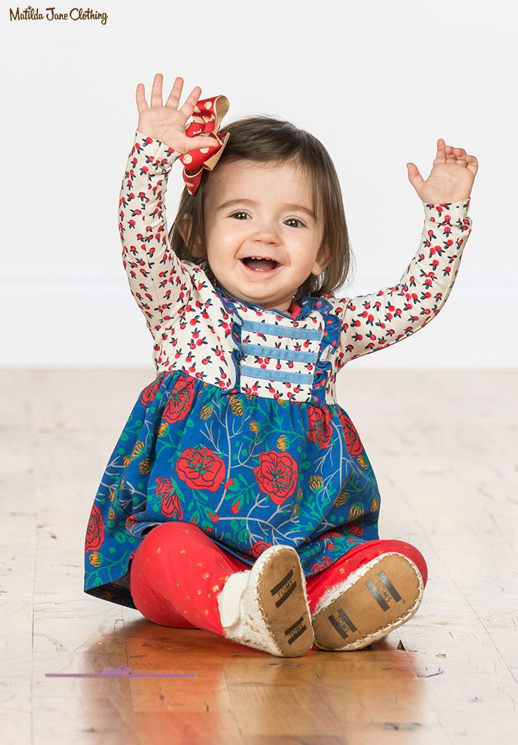 b75bab2bcb99d Make Believe, Fall 2017; Winterberry Top, Light Me Up Leggings, and  Beautiful Baubles Bow Set. Floral and berry print top for making ever event  a festive ...