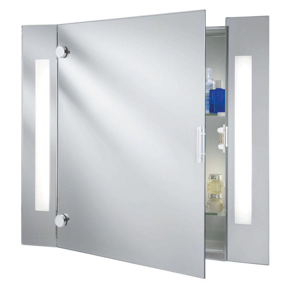 Searchlight 6560 IP44 Illuminated Bathroom Mirror Cabinet With ...