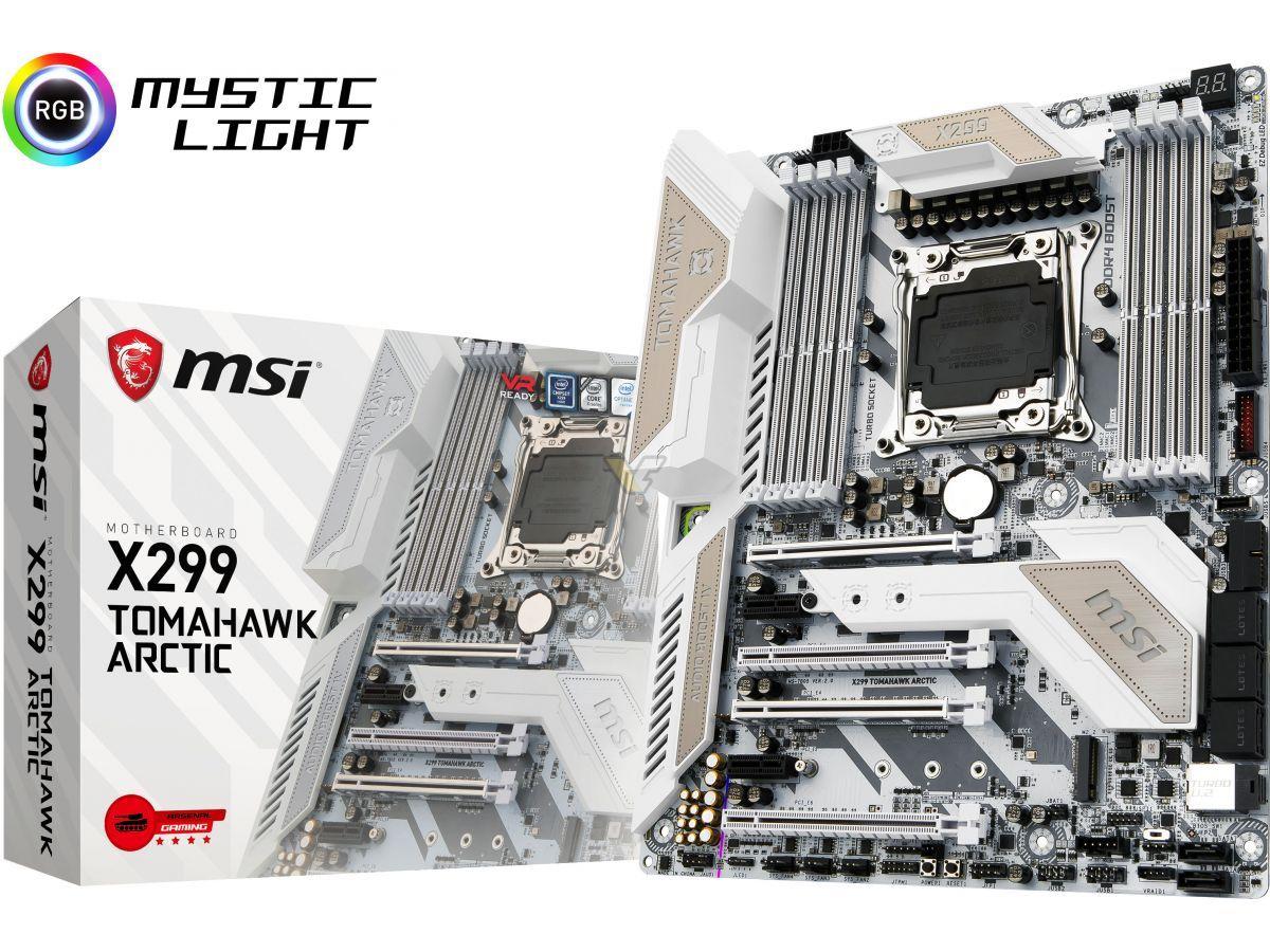 Msi Unveils Its New X299 Tomahawk Arctic Motherboard Msi Arctic
