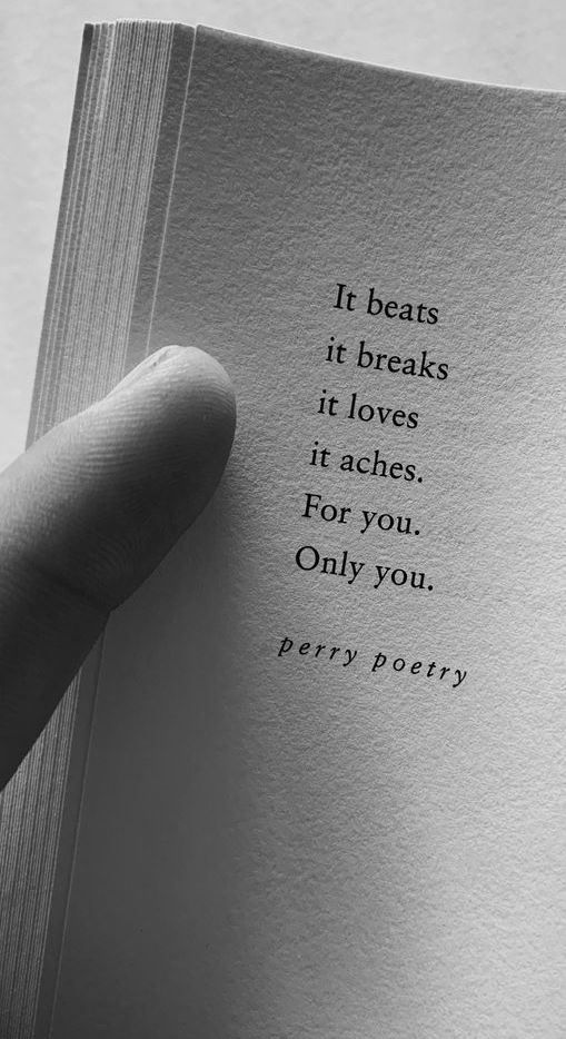 For you. Only you.