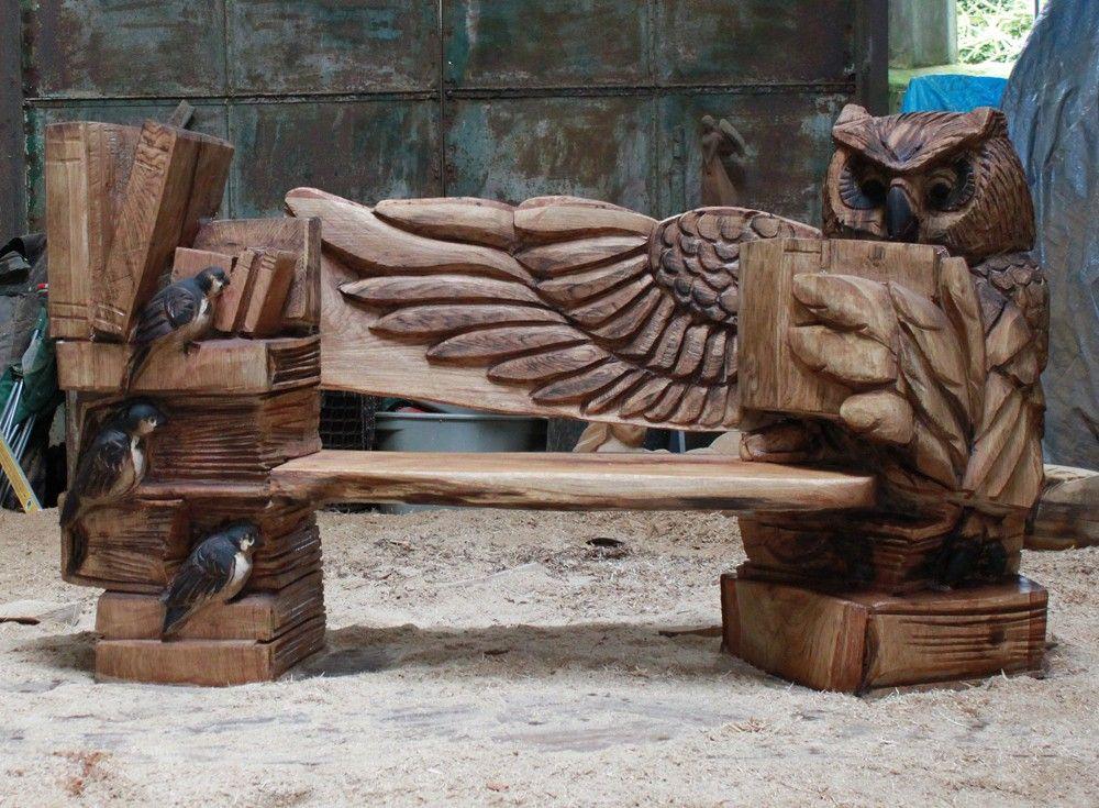 Chainsaw sculptor ray wirick wood carving for Stuhl design kunstunterricht