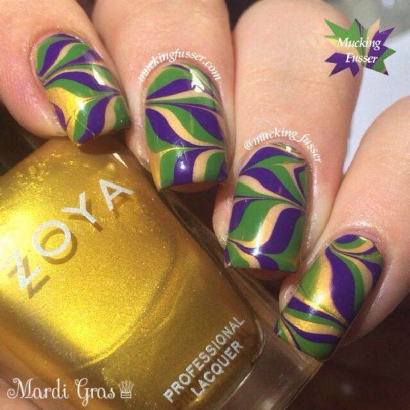 31 #Fantastic Mardi Gras Nail Art Ideas ...   Nail art   Pinterest ...