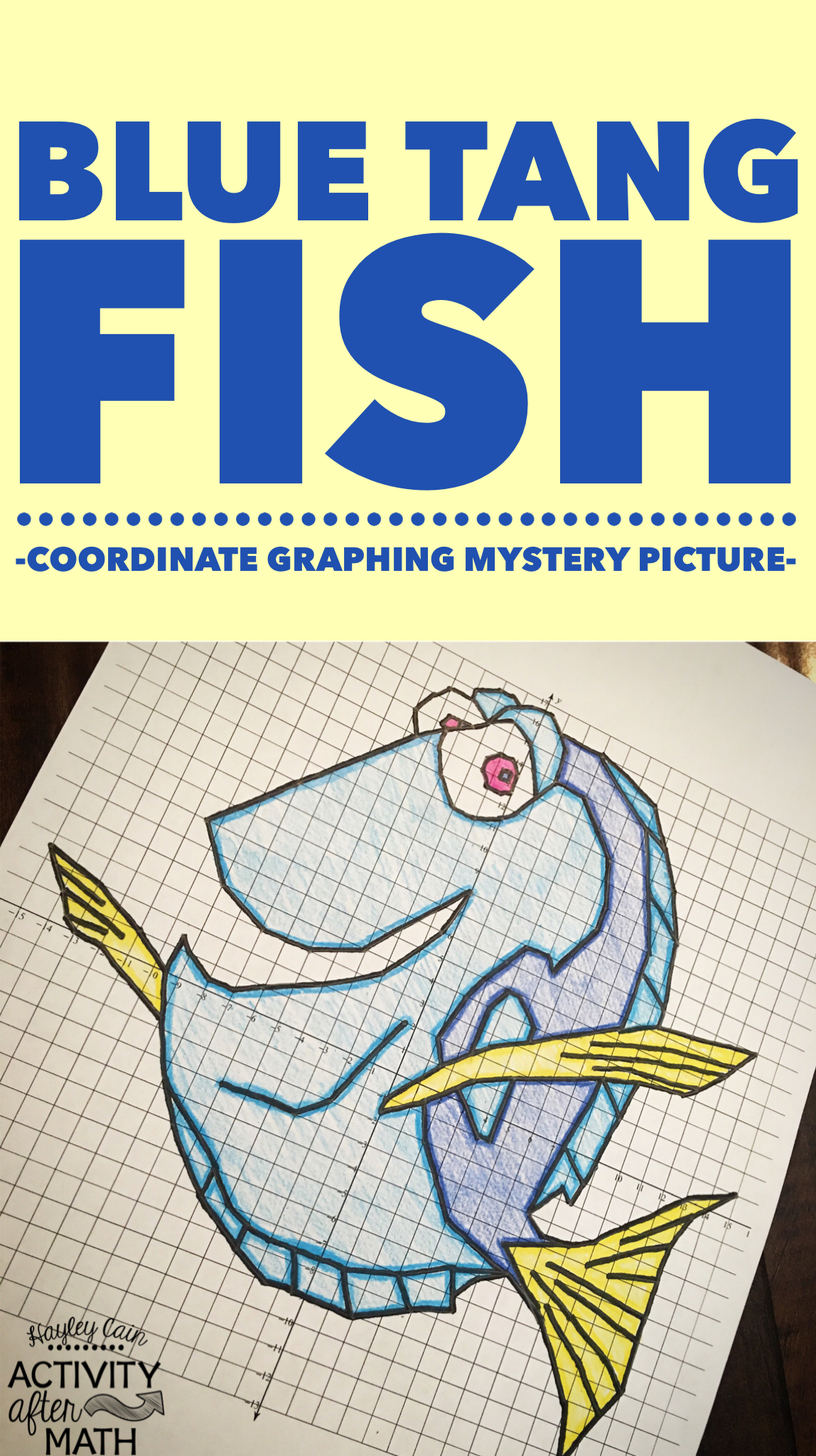 Fish Blue Tang Coordinate Graphing Picture