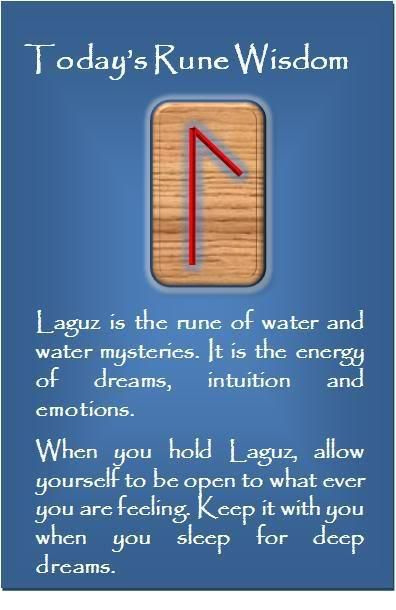 ☆ The Rune - L - Laguz - Flow, Water, That Which Conducts ☆