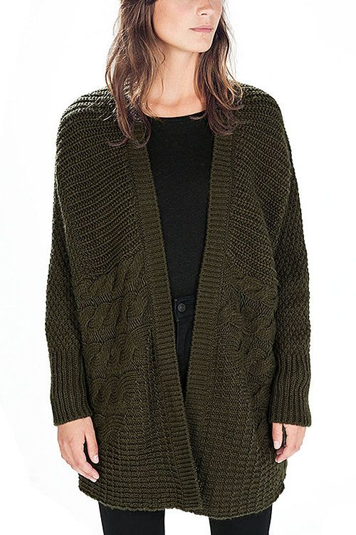 The mixed stitch cardigan is made of 100% acrylic ,the character of  mixed stitch makes it special.