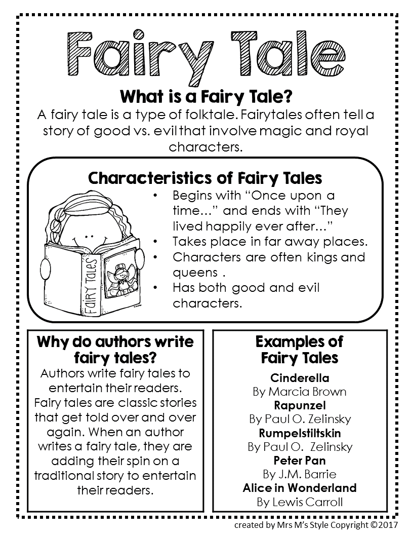 Fairy Tale Genre Anchor Chart  Anchor charts, Authors purpose