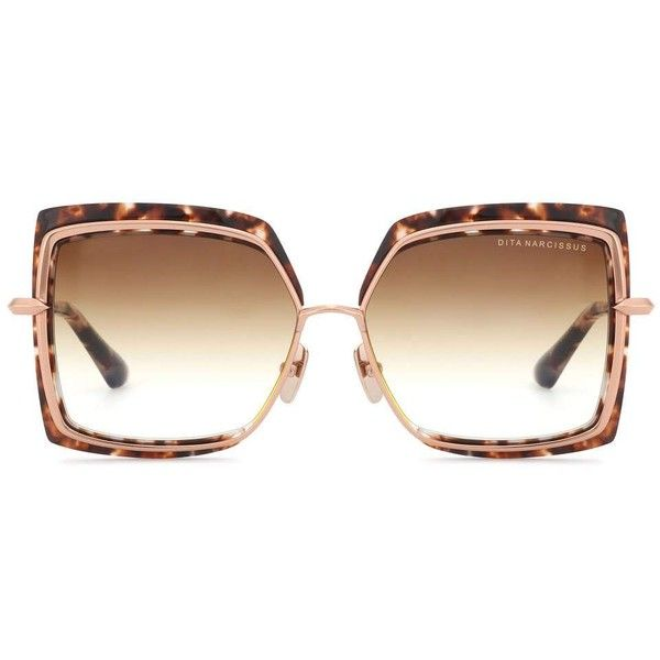 9bb1d6cb22 Pull on Dita Eyewear s oversized square-frame sunglasses for glamorous  results this season. The tortoiseshell-style design features rose-gold  detailing and ...