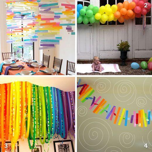 DIY Rainbow Party Decor