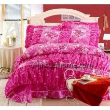Orange Gilrs Floral Lace Bowtie Bedding Collections-Lightuphome.com