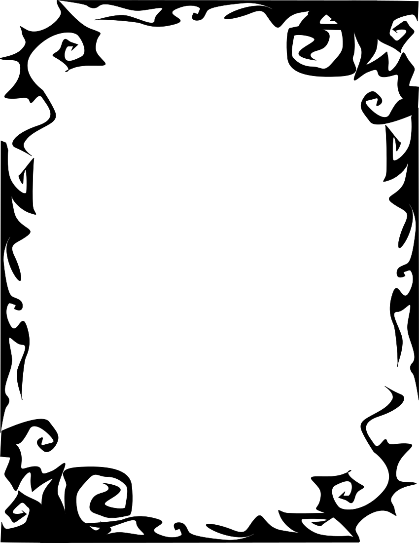 frame scary abstract Halloween silhouettes, Page frames