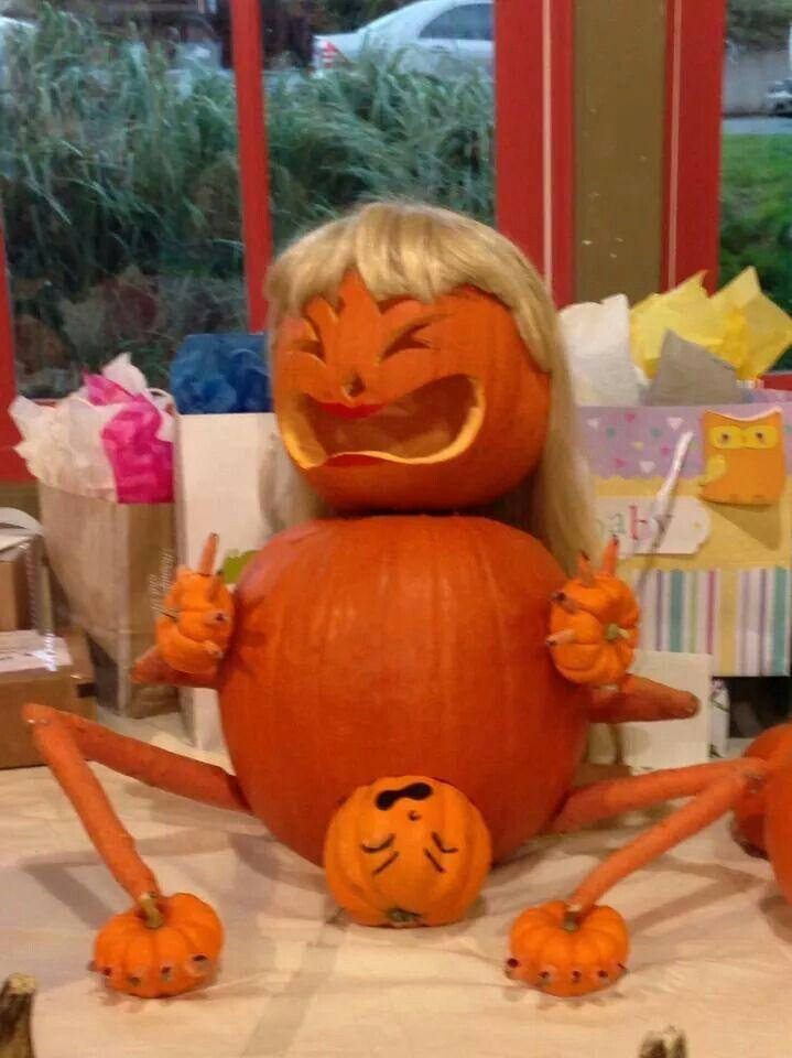 Mother Pumpkin giving Birth   Halloween Decor & More ...