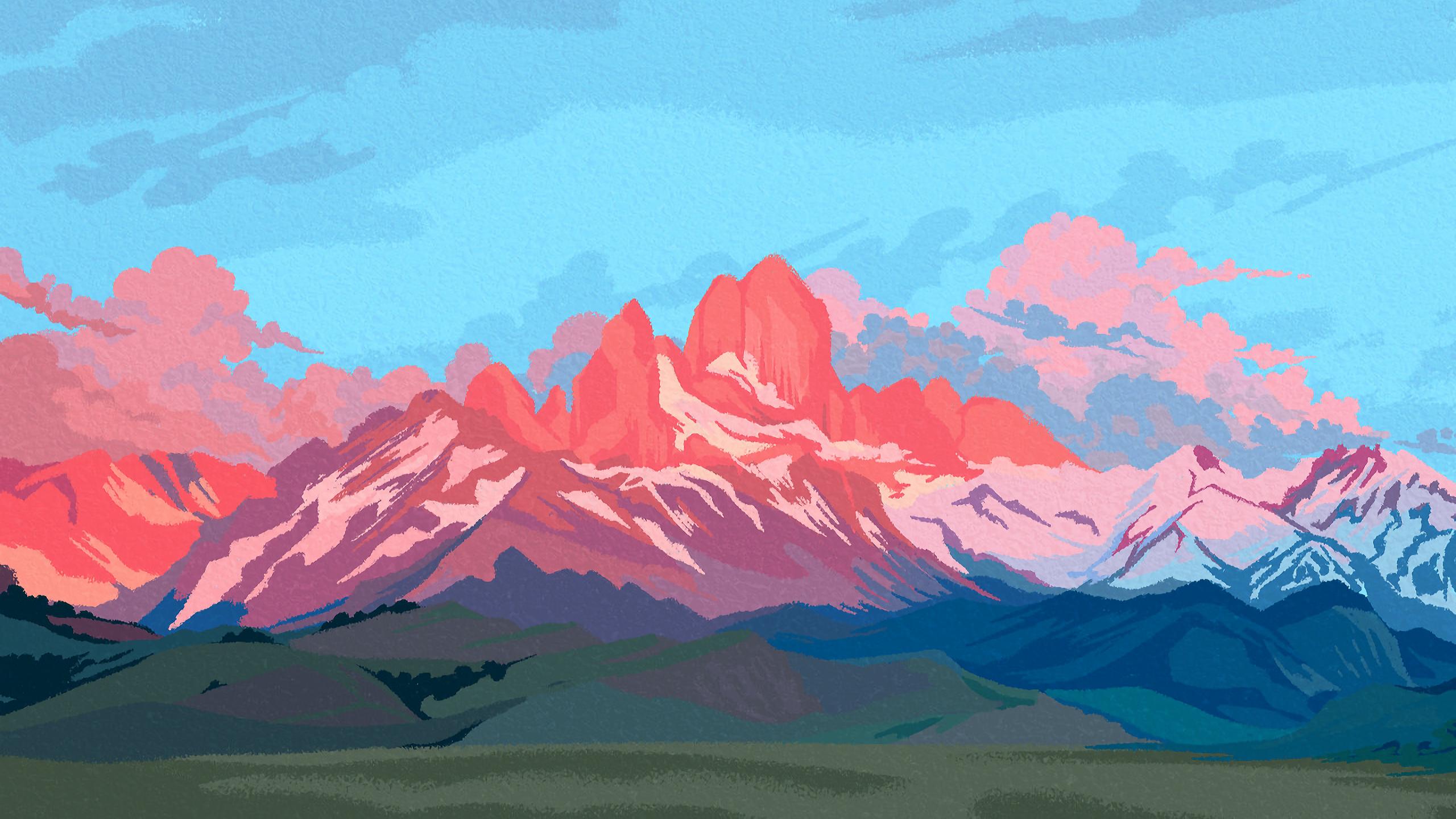 Pastal Practices 8pxl 2560x1440 Pixel Art Art Wallpaper