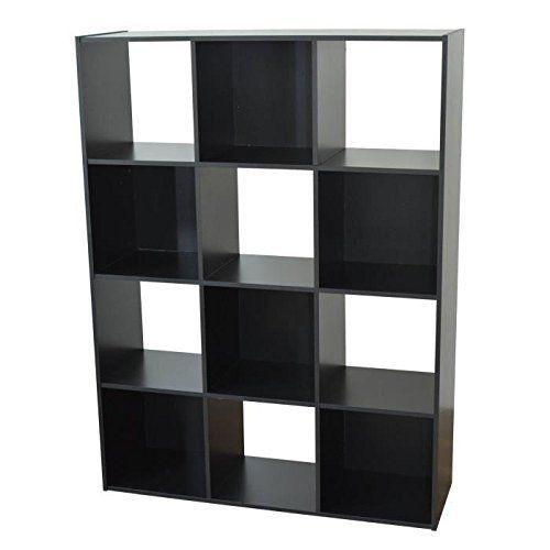 Cube Shelves Unit Trendy Design Storage Box Organizer Melamine Black Finish Unit Shelving Cube Shelves Shelves