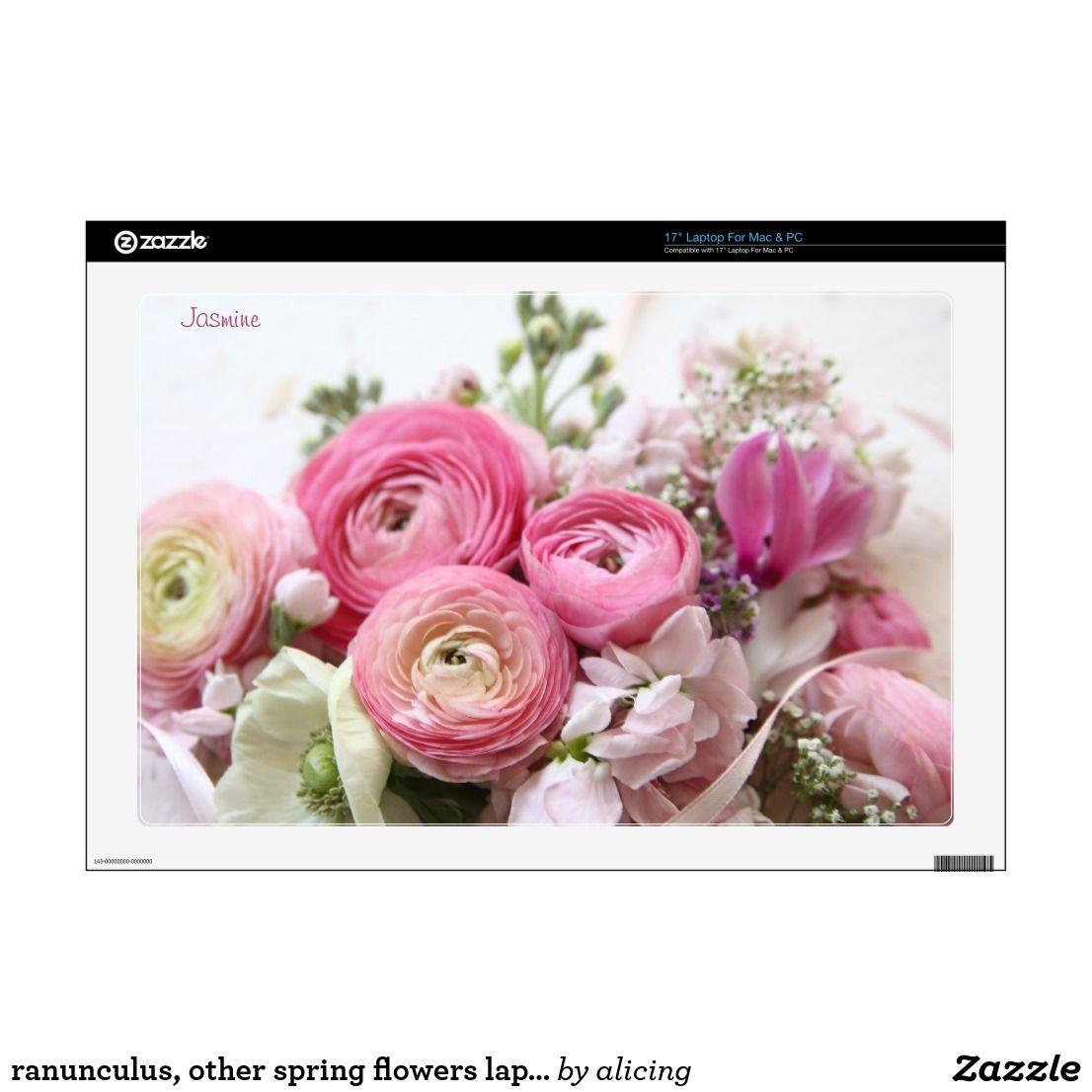 Ranunculus Other Spring Flowers Laptop Skin Pink Laptop Pink Skin Flowers
