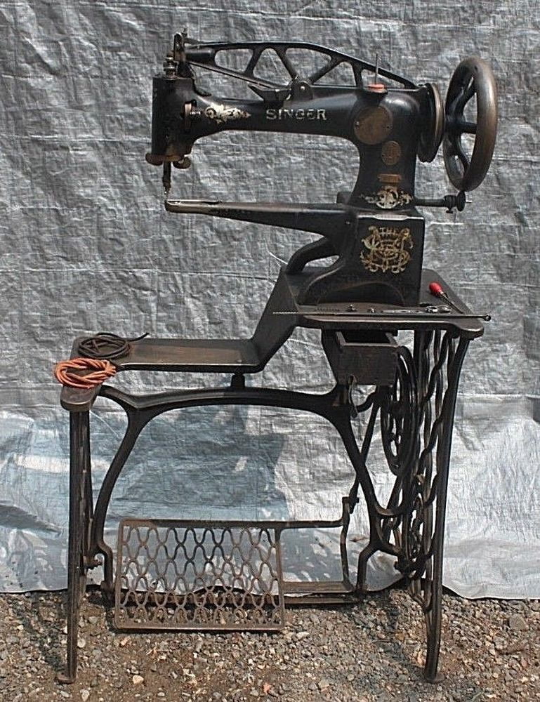 Antique Singer 4040 40 Industrial Leather Sewing Machine Shoe Magnificent Antique Singer Leather Sewing Machine
