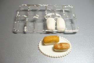 """Use Eclipse gum packaging to make uniform loaves of bread - made with """"Pluffy"""" modeling clay by Sculpey"""