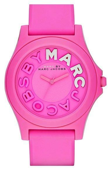 MARC BY MARC JACOBS 'Sloane' Silicone Strap Watch