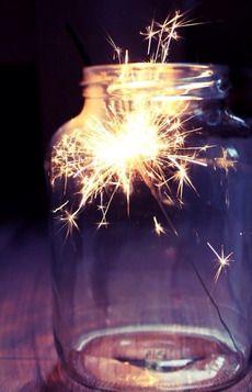 sparkler and maison jar