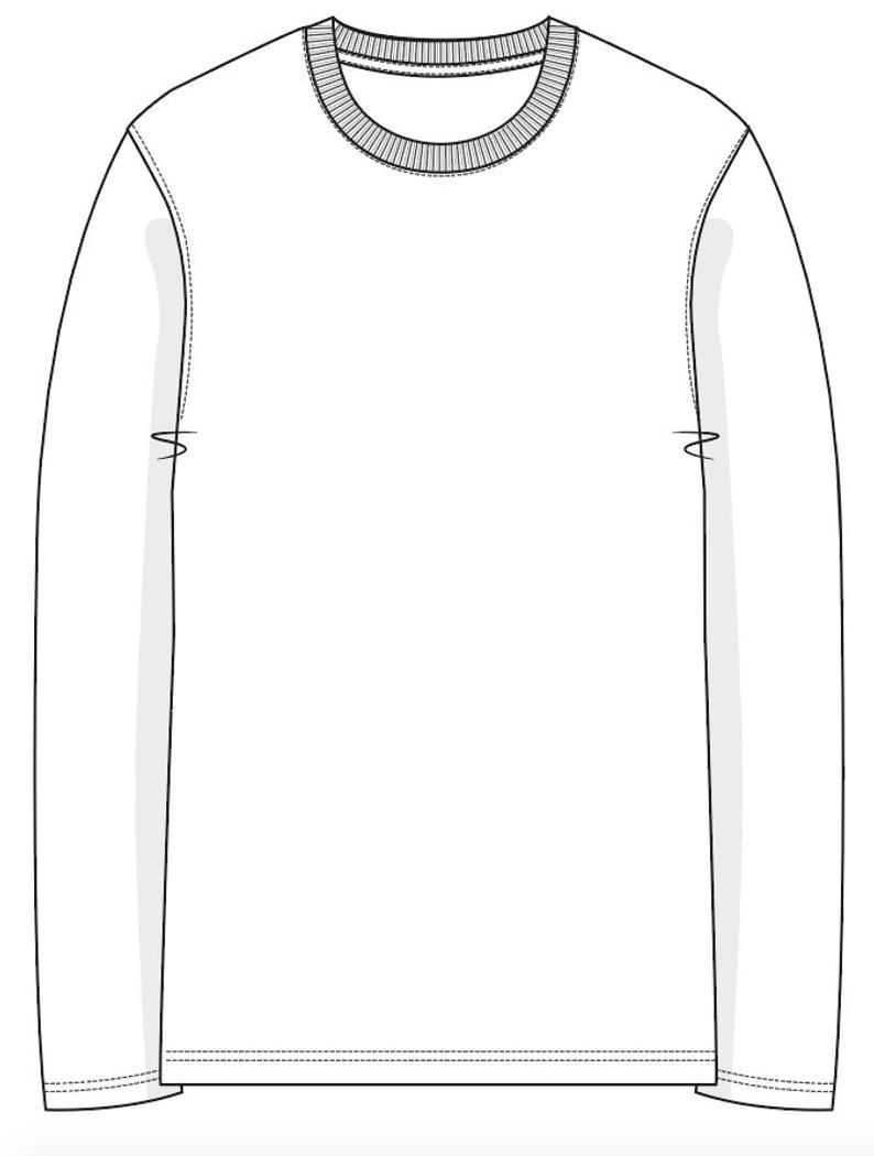 Long Sleeve Shirt Vector : sleeve, shirt, vector, Vector, Artwork