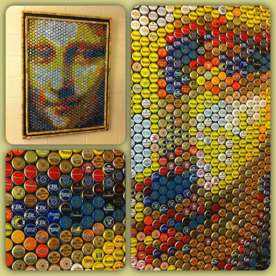 Bottle Cap Wall Art mona lisa bottle cap art | for the home | pinterest | bottle cap