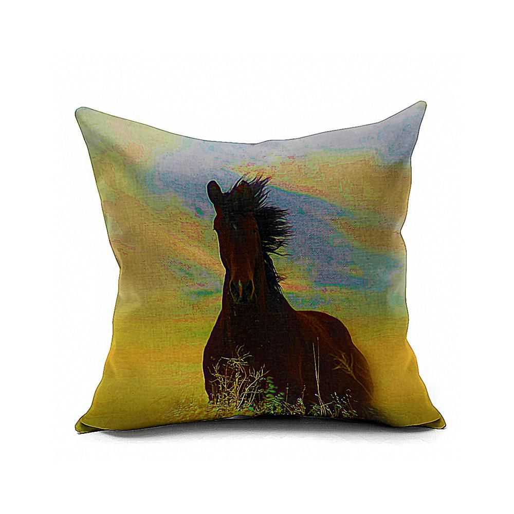 Cotton Flax Pillow Cushion Cover Animal   DW128 - 4PS
