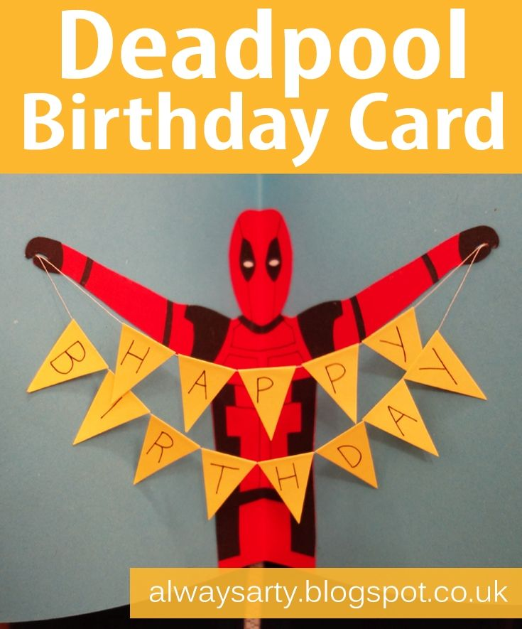 Deadpool birthday card with bunting always arty card ideas deadpool birthday card with bunting always arty bookmarktalkfo Choice Image