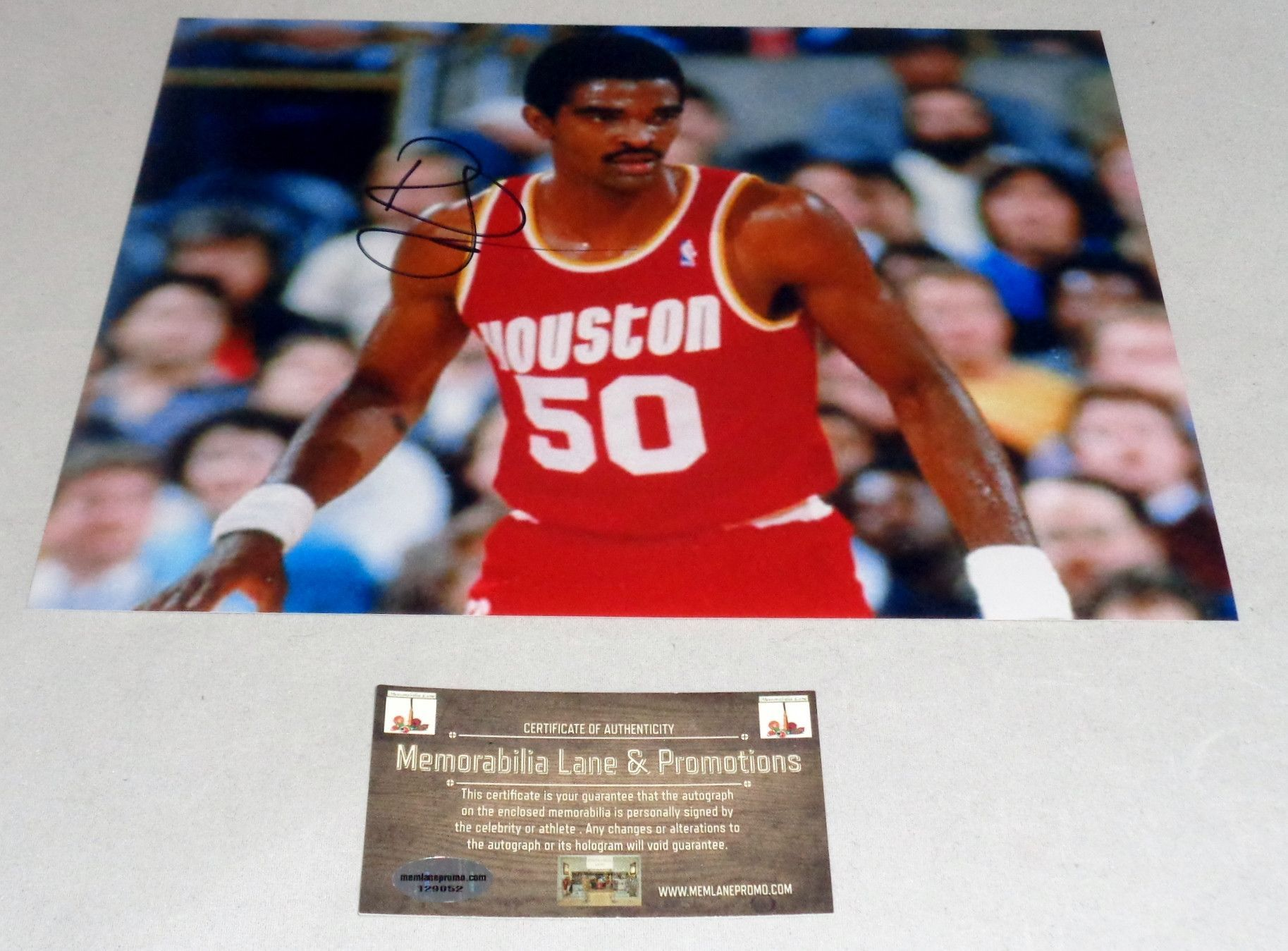 4631d62e6f1b Ralph Sampson ROCKETS autograph 8x10 COA Memorabilia Lane
