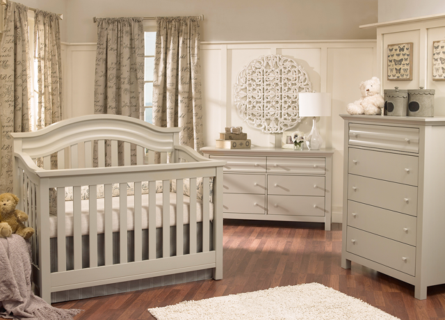 Baby Cache Vienna Lifetime Crib - Ash Gray - Baby Cache - Babies