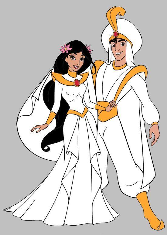 Image result for princess jasmine and aladdin wedding | Disney ...