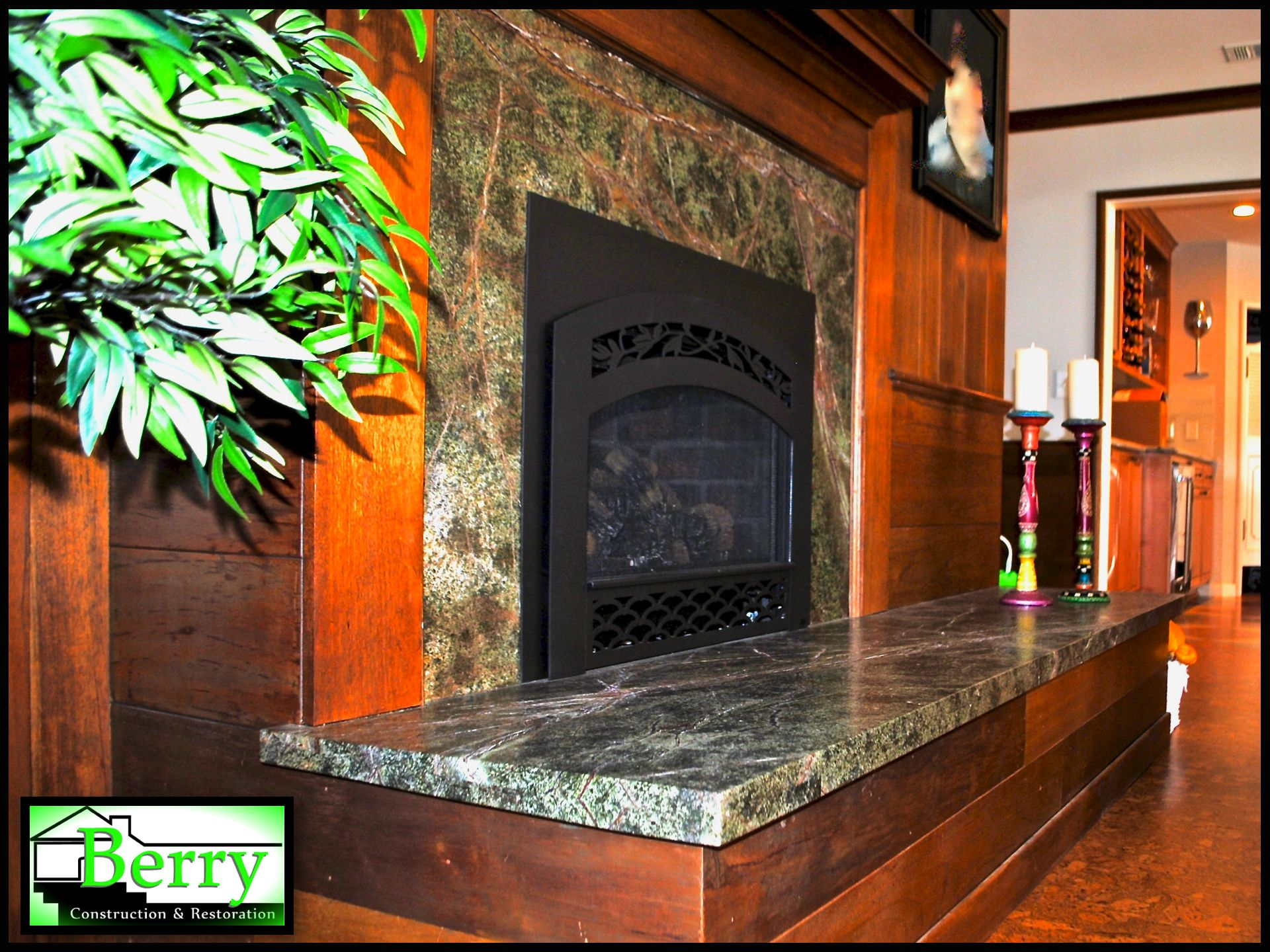 the fireplace was part of a full scale remodel of a 1940 s home the