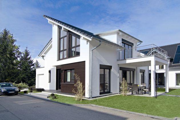 Fertighaus * Modernes WeberHaus * Ausgefallene Architektur * Schrägdach
