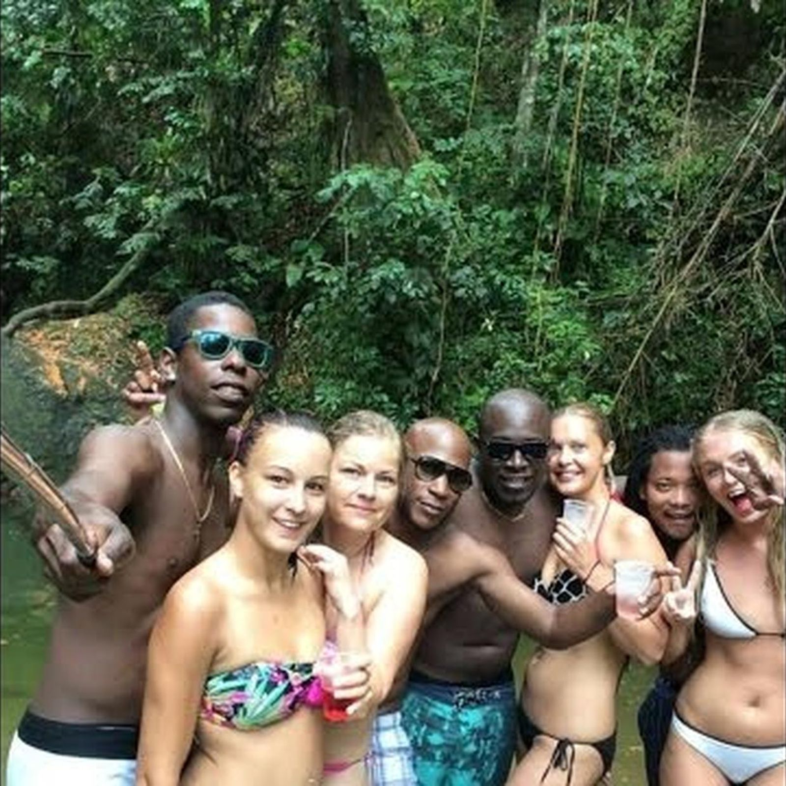 Interracial in jungle
