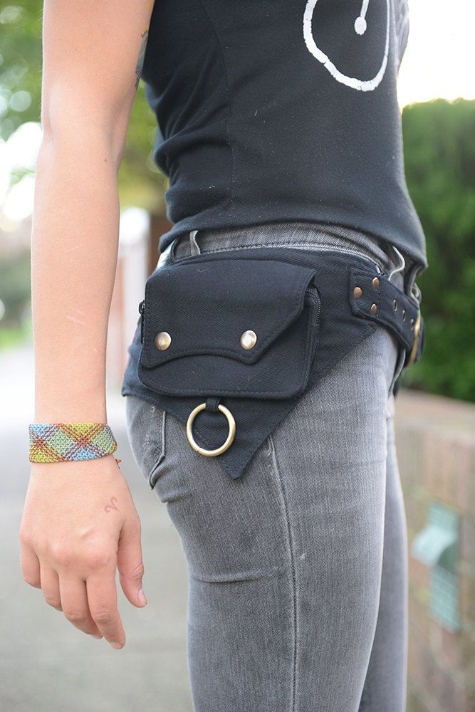 Photo of The Hipster, Cotton Utility Belt, Festival Belt, Pocket Belt, Bum Bag, Hip Bag, Festival Fanny Pack//SALE//
