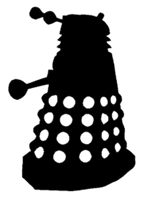 Exterminate! Get your very own little Dalek to put on your computer, car, fridge, binder.... These decals are great for any flat smooth surface. A small (under 3) vinyl decal.