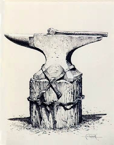 Hammer and Anvil Drawing - Bing images | Iron Forged by Hand