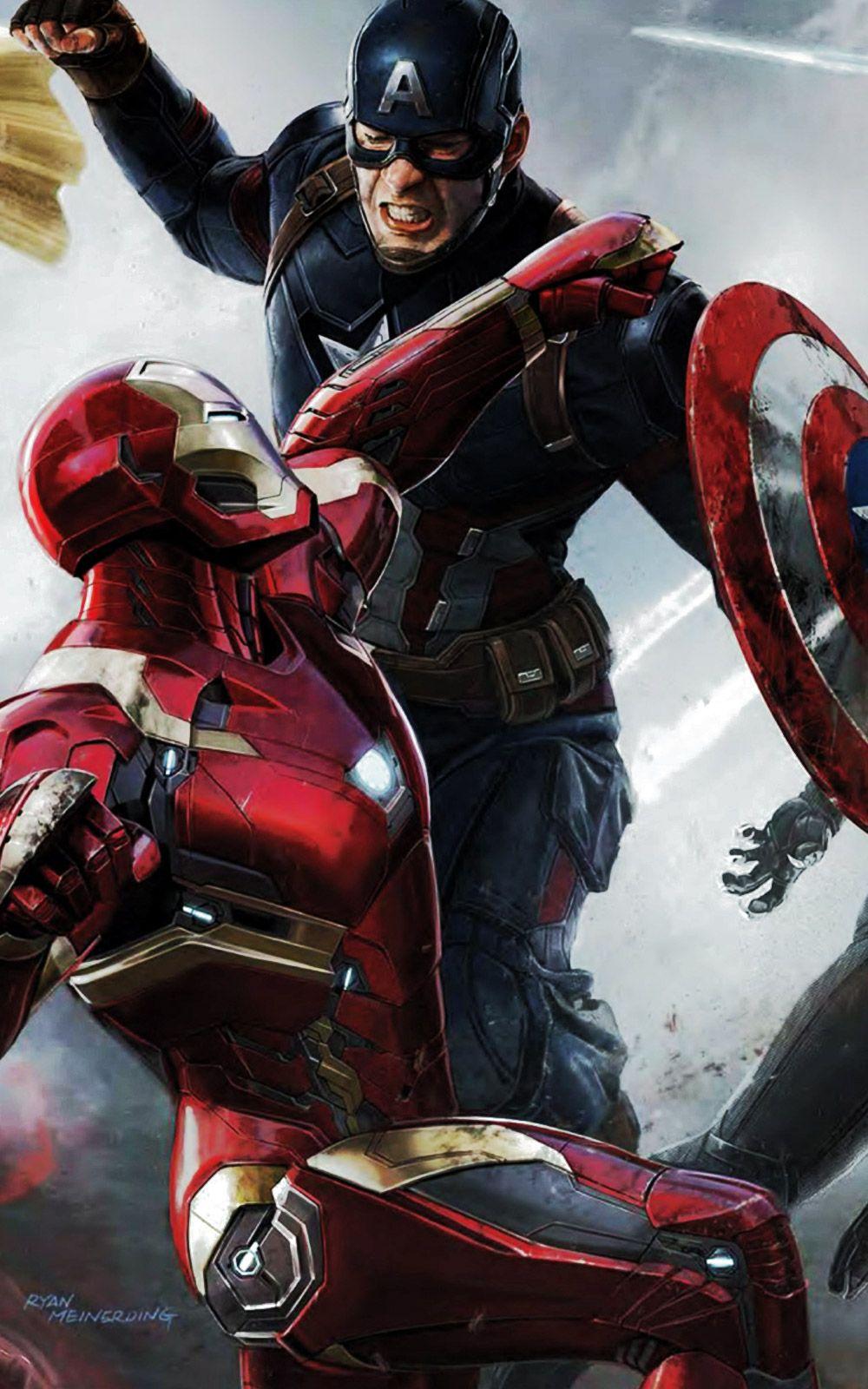Captain America Civil War iPhone Wallpaper Gambar, Fotografi