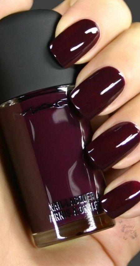 Emmy DE * #marsala #nails | Nailed it | Pinterest | Nail nail, Diva ...