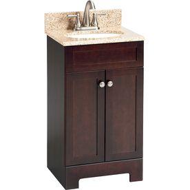 18 inch bathroom vanity. Style Selections 18 1 2 in Espresso Longshire Single Sink Bathroom Vanity  with