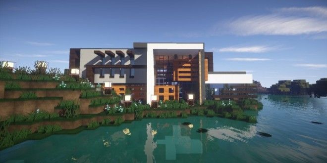 Clane   Modern House U2013 Minecraft House Design