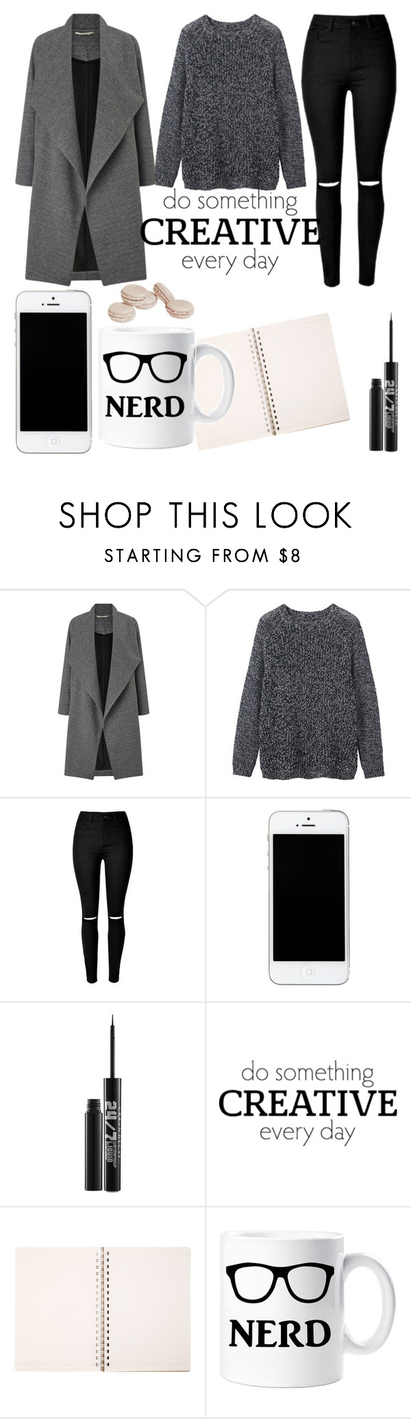 """#black#cute#"" by nastya-perfect ❤ liked on Polyvore featuring Miss Selfridge, Toast and Urban Decay"