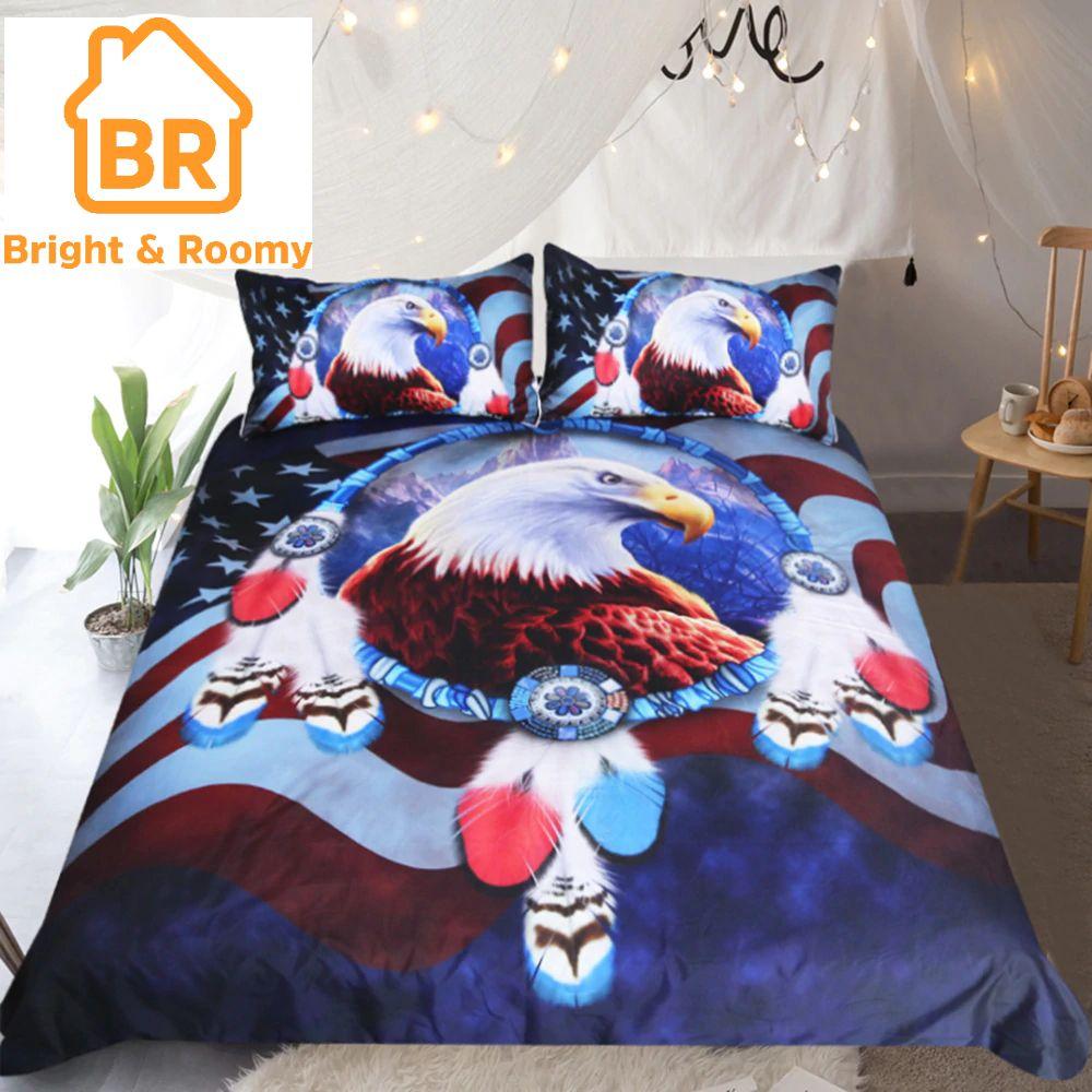 Eagle Dreamcatcher 3d Bedding Set 3pcs With Images Duvet Cover Sets Duvet Bedding Sets