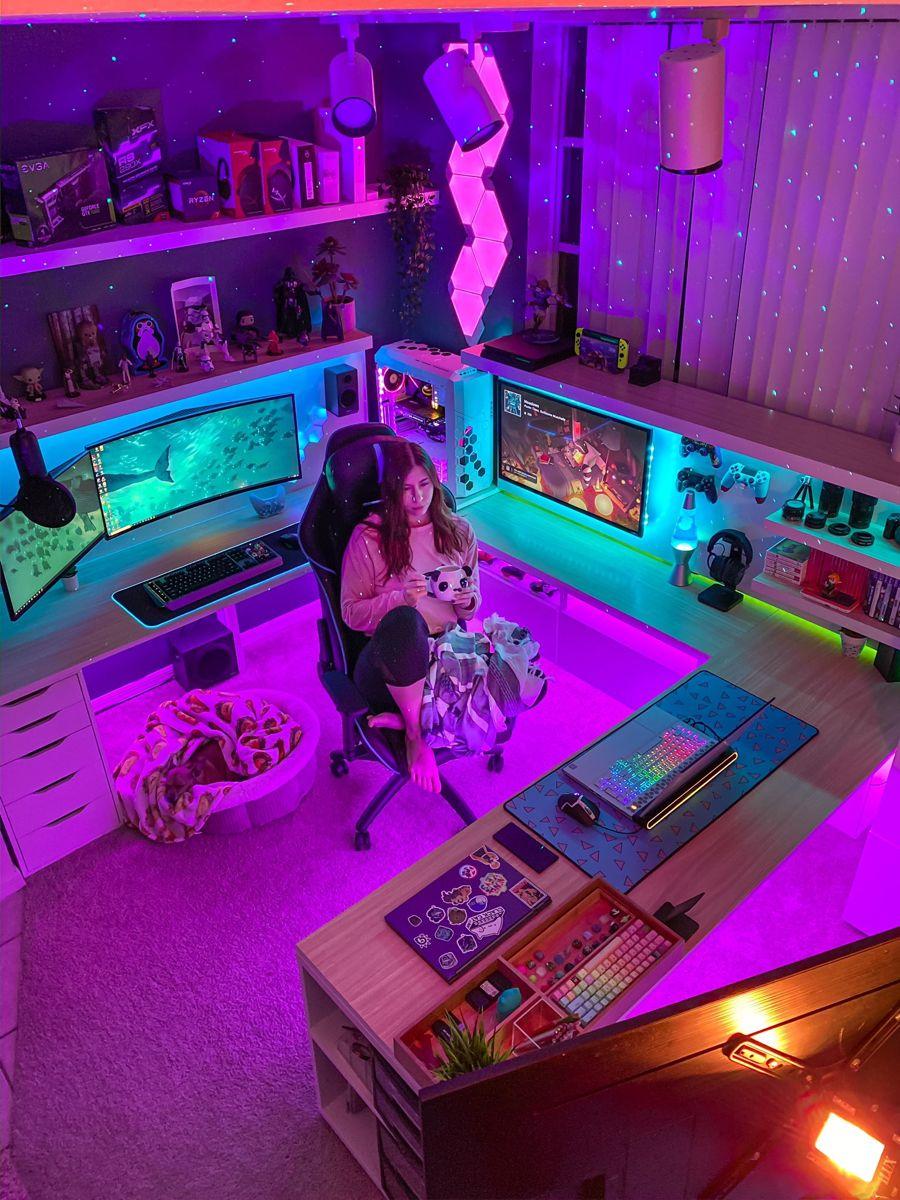 Streamer Room Brittnaynay3 Video Game Room Design Gamer Room Gamer Room Decor