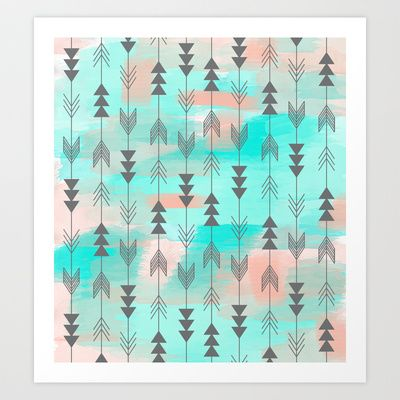 Watercolor+Arrows+Art+Print+by+Sunkissed+Laughter+-+$15.60
