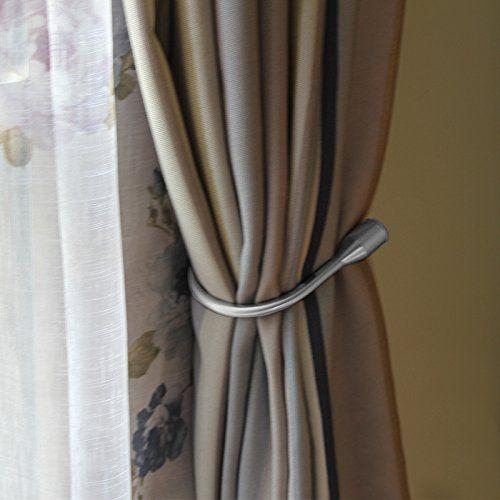 Yeexue Curtain Holdback U Arm Hook Metal Drape Tieback One Pair