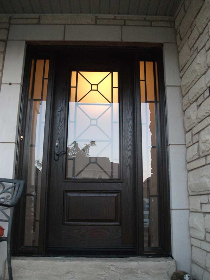 decorative front doors with glass bing images - Single Exterior Doors