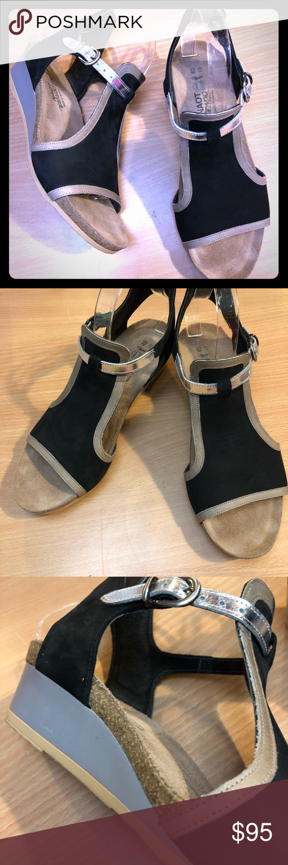 61d8d4a0b6a0 NAOT Fiona wedge slingback open toe sandal! The Fiona is the perfect  transitional wedge.