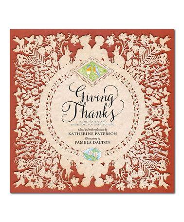 Giving Thanks Hardcover #zulily #zulilyfinds