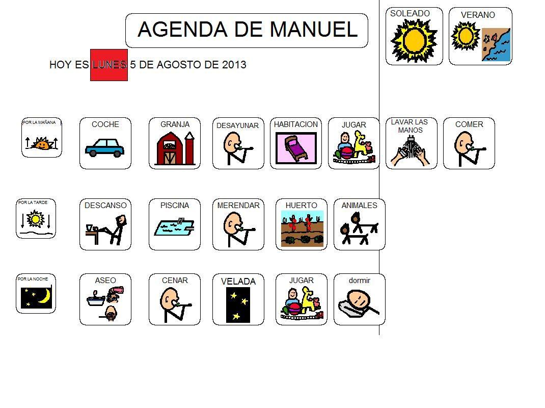 Agendas pictogramas para ni os autistas buscar con google pictogramas pinterest para - Trabajar en comedores escolares valencia ...