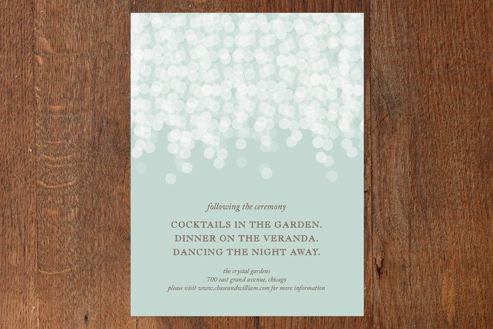Under the Stars Reception Cards by Bethany Anderson at minted.com