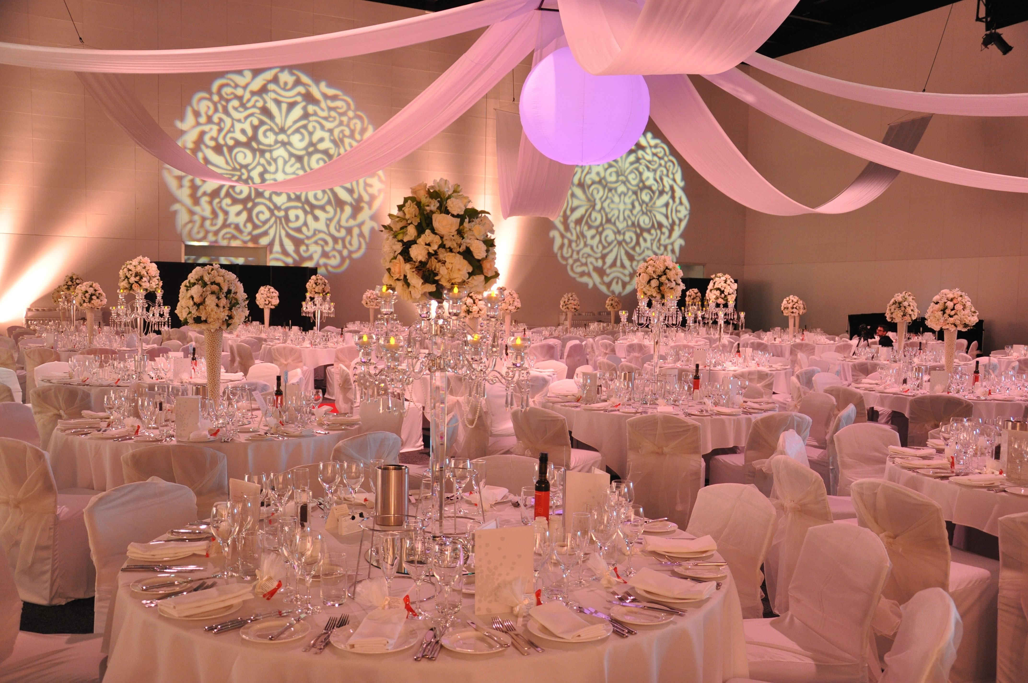 A beautiful #wedding set up in Hall F of the #Adelaide Convention ...